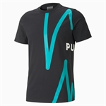 PUMA Franchise Graphic T-Shirt - Black