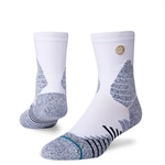 Stance Icon Hoops QTR Socks - White